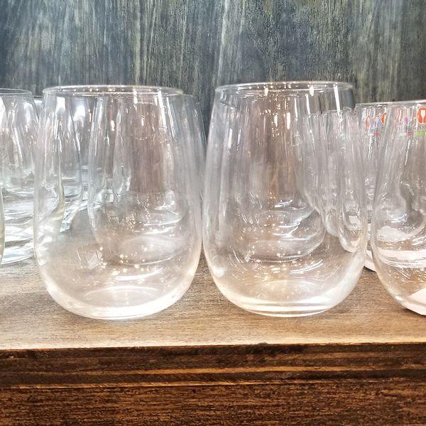 Set de 6 Vasos bombé de vidrio de 490 cc