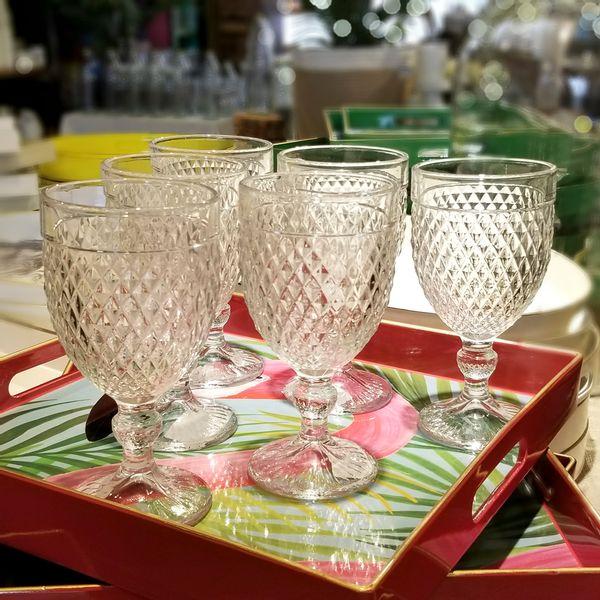 Copa Labrada de vidrio color Cristal