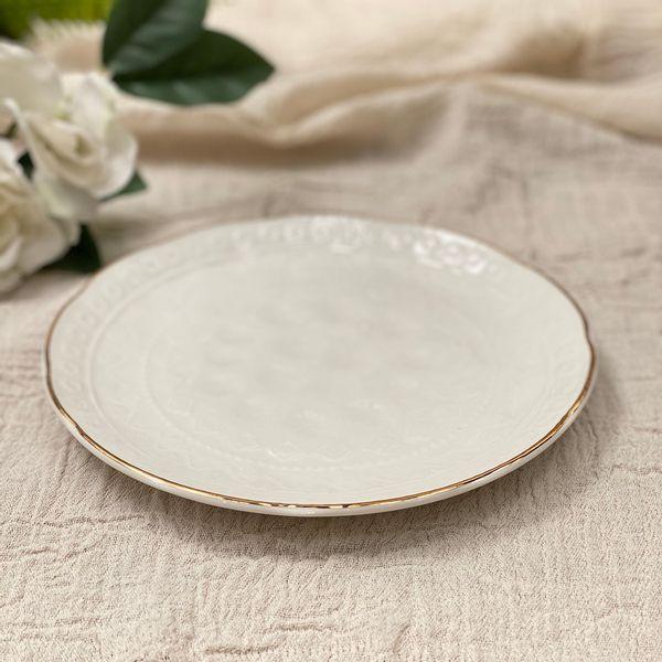 Plato postre porcelana