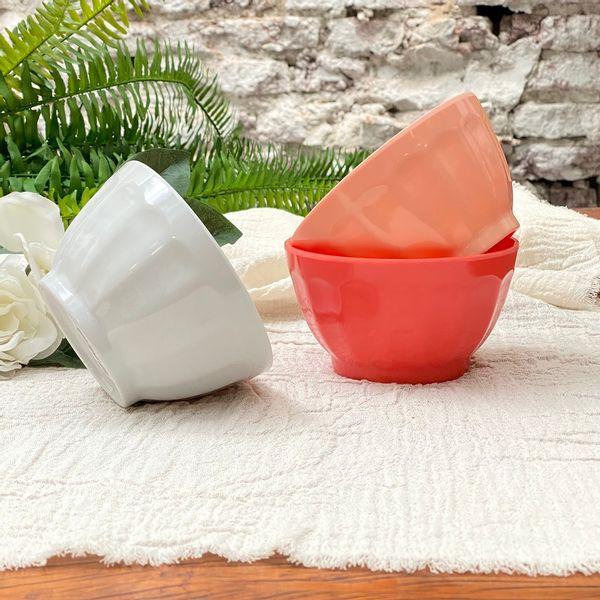 Bowl melamina facetado x 3