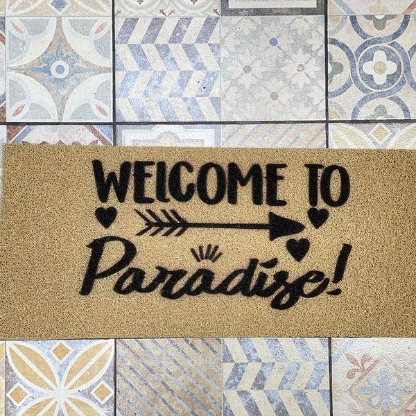 Felpudo Welcome to paradise