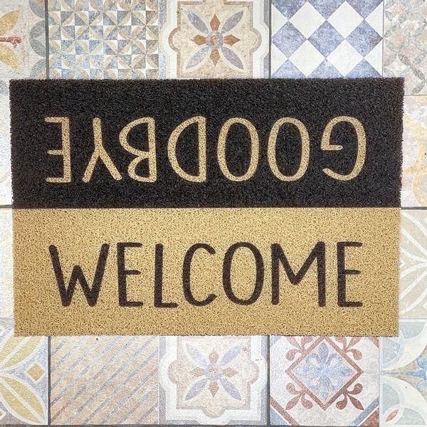 Felpudo Welcome Goodbye