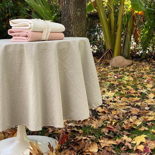 Mantel algodón Rosa