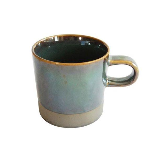 Mug de cerámica metalizado bajo