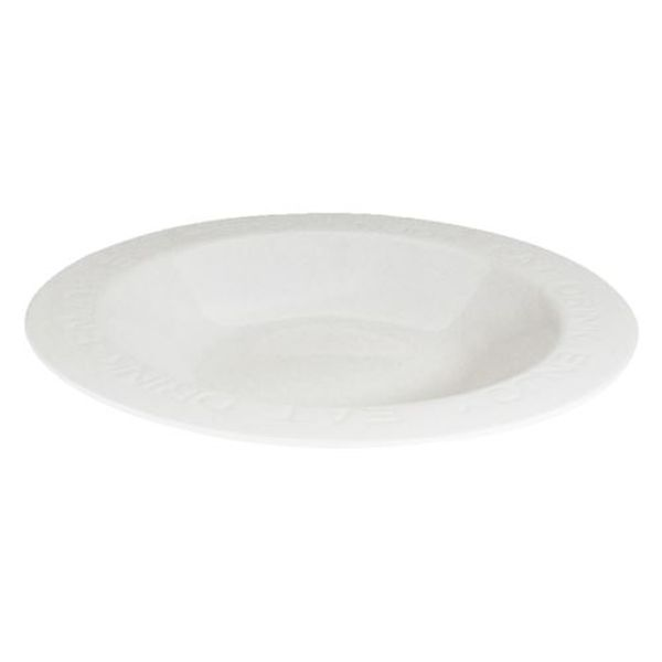 Plato Hondo de cerámica Eat, Drink Enjoy