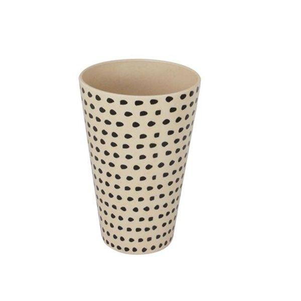 Vaso fibra de bamboo dots.