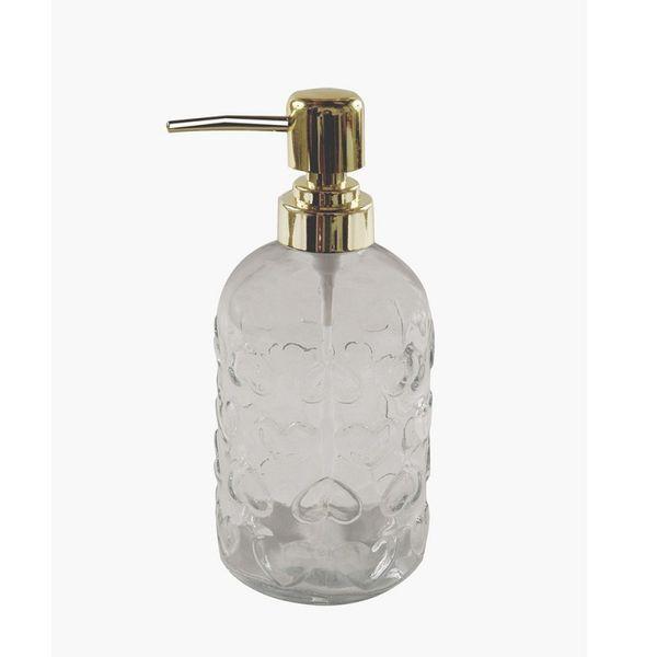 Dispenser jabón liquido corazón tapa dorada