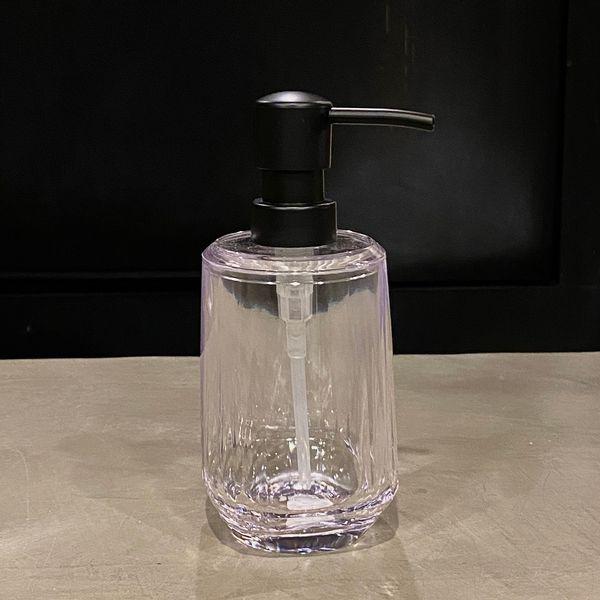 Dispenser jabón líquido de acrílico transparente 16 x 8 cm