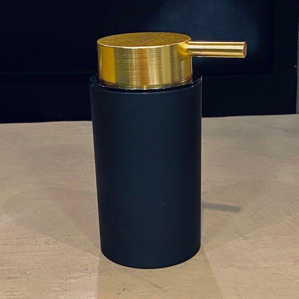 Dispenser jabón líquido negro y dorado