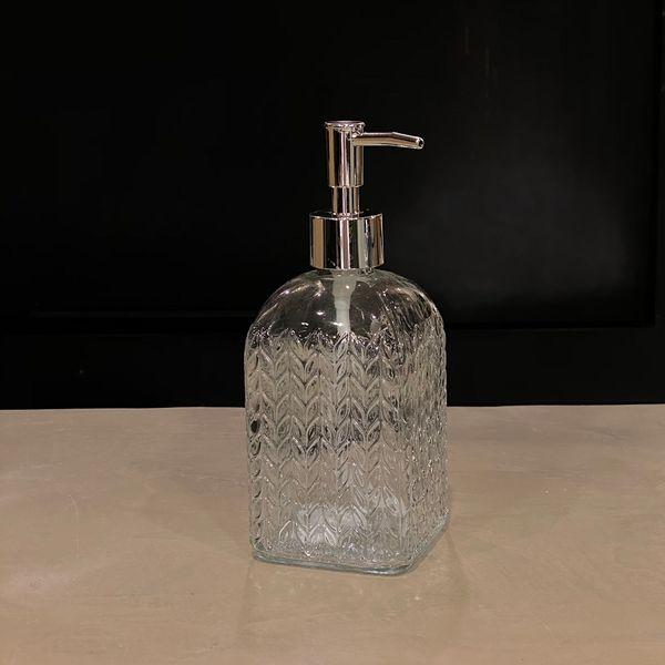 Dispenser jabón liquido hojas tapa plata