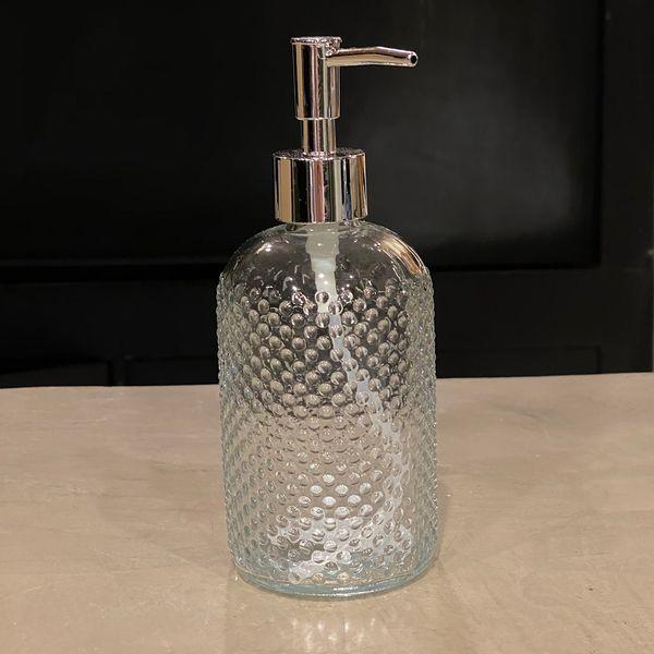Dispenser jabón liquido puntos tapa plata