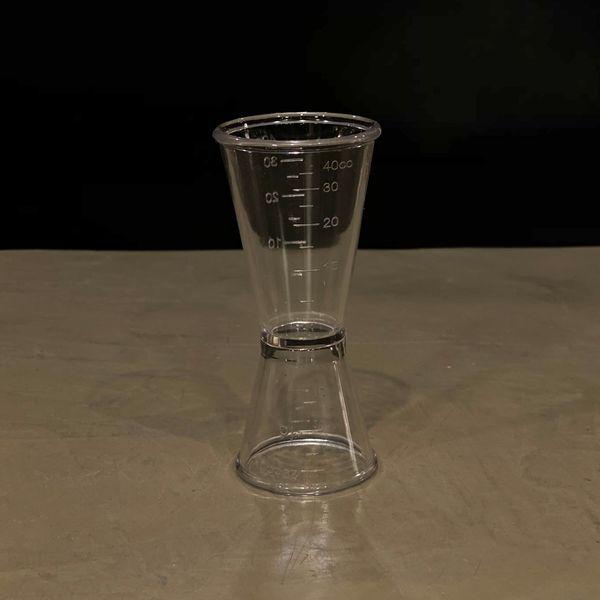 Medidor doble para tragos 40 y 20 ml