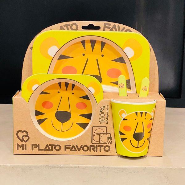 Set 5 piezas bamboo Tigre