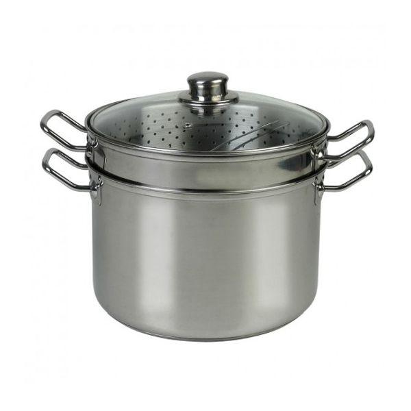 Olla para pasta con colador de acero inoxidable 8 lts