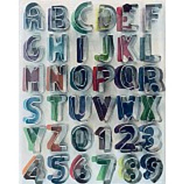 Molde letras y números