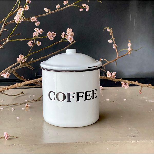 Tarro Enlozado Vintage Coffee