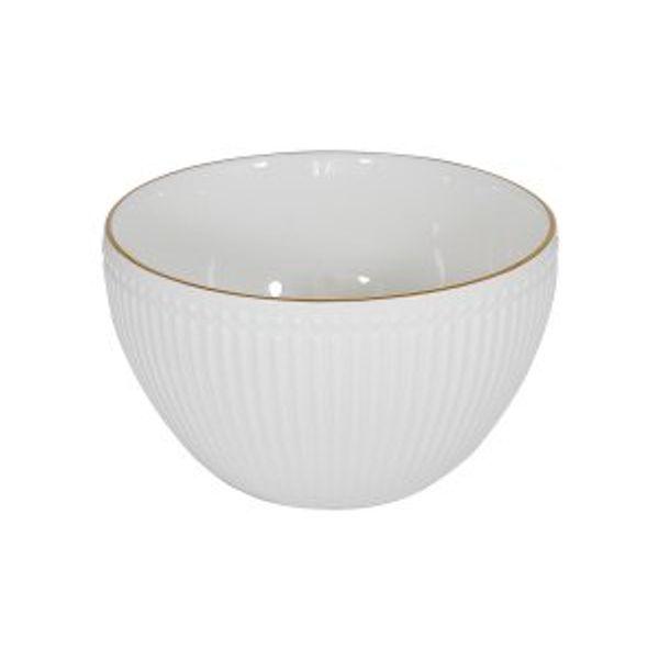 Bowl porcelana lineas borde dorado