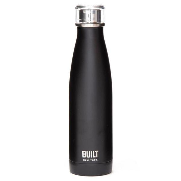Botella de acero Negro Built