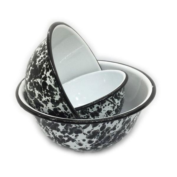 Set x 3 bowls enlozados jaspeados