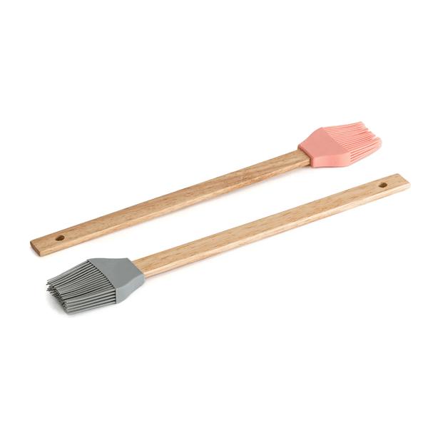 Pincel de silicona con mango de madera