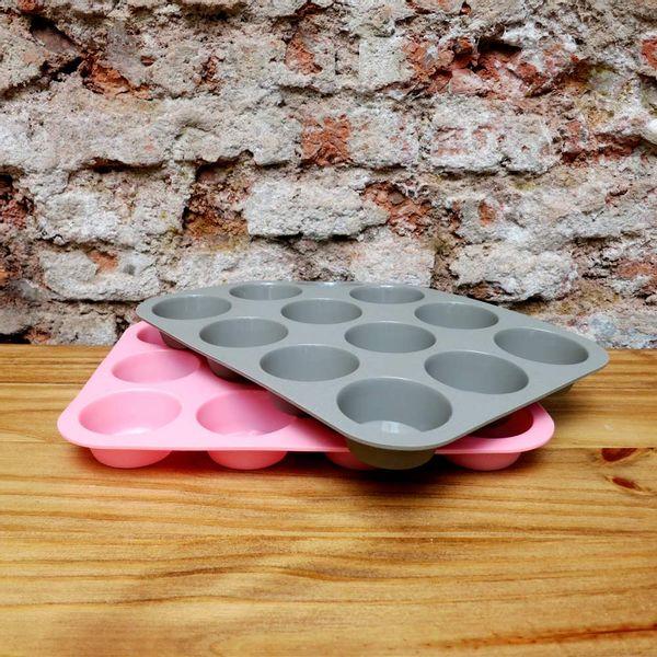 Molde silicona para cupcakes