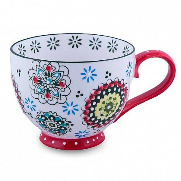 Taza de mándala y flor