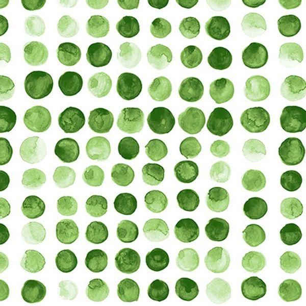Pack x 20 servilleta papel motas verde 33 x 33 cm