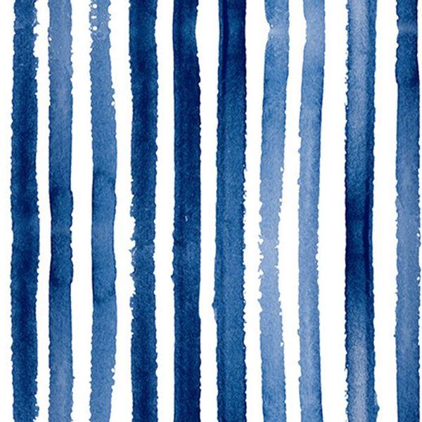 Pack x 20 servilleta papel rayas azul 33 x 33 cm