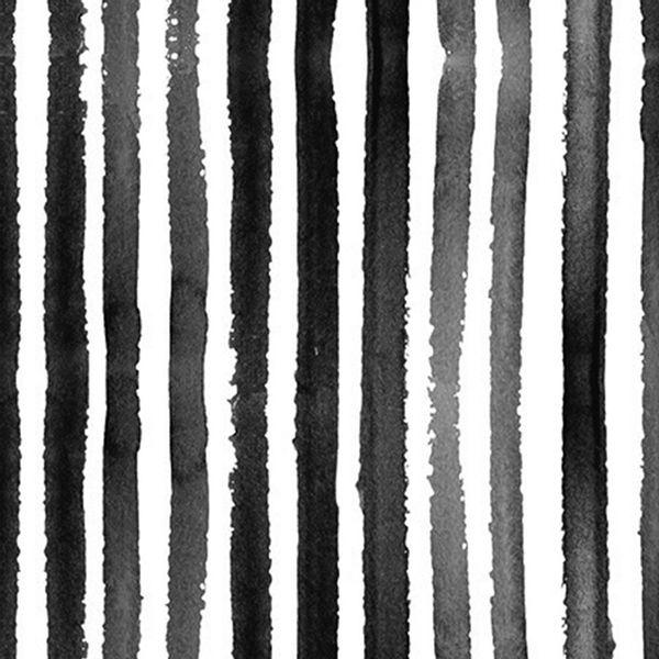 Pack x 20 servilleta papel rayas negro 33 x 33 cm