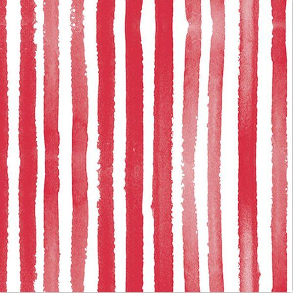 Pack x 20 servilleta papel rayas rojo 33 x 33 cm