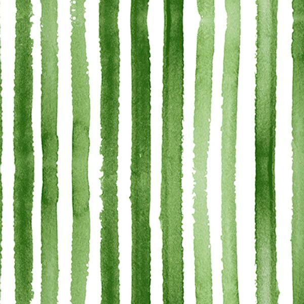 Pack x 20 servilleta papel rayas verde 33 x 33 cm