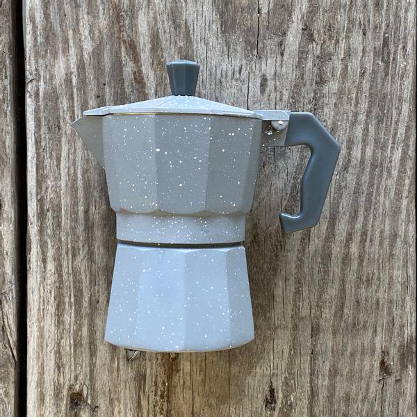 Cafetera 150 ml para 3 tazas expreso gris