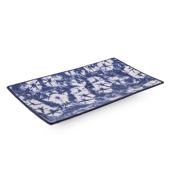 Fuente batik azul rectangular 29 cm