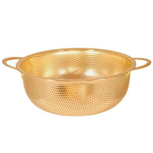Colador dorado con 2 asas