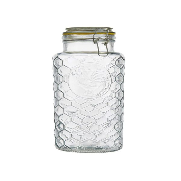Frasco vidrio labrado gallo 29 x 12.5 cm