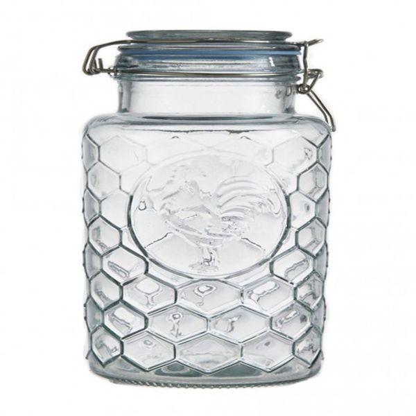 Frasco vidrio labrado gallo 24 x 12.5 cm