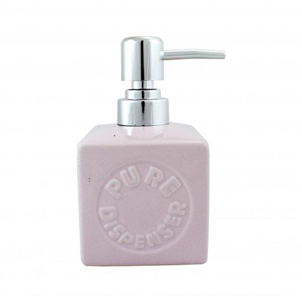 Dispenser de jabón líquido 13 x 7.2 cm rosa