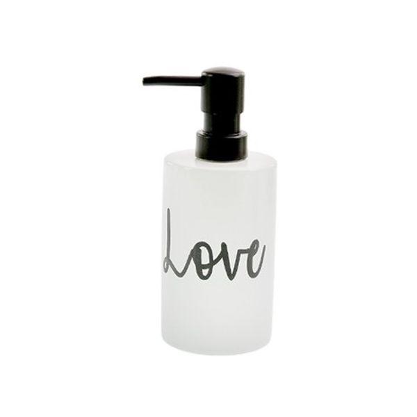 Dispenser jabón líquido cilindro Love Negro