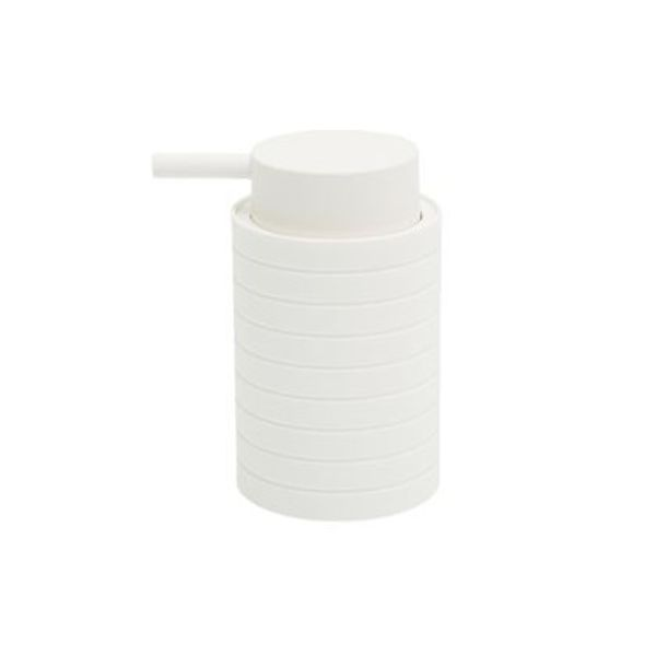 Dispenser jabón líquido laminado blanco 13 x 7.5 cm