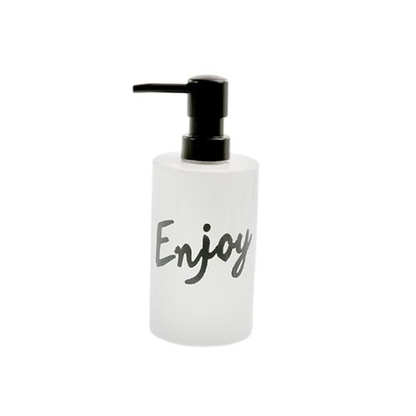 Dispenser jabón líquido cilindro Enjoy Negro