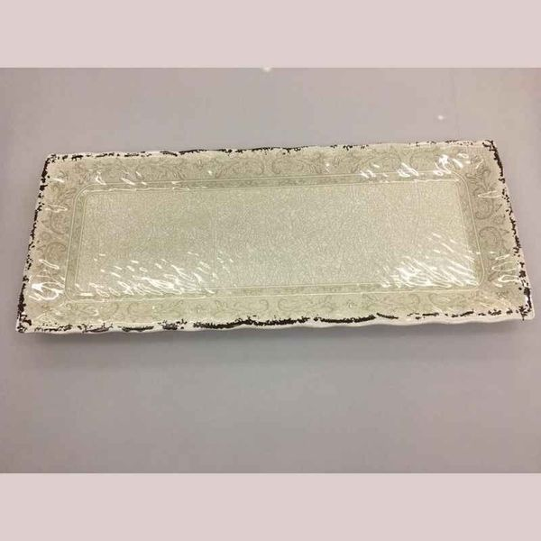 Bandeja rectangular 48x20 cm linea Romana de melamina