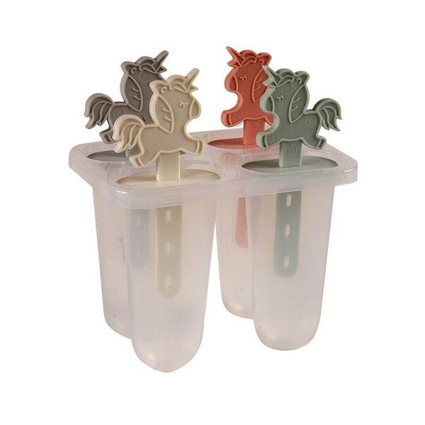 Molde para helado x4 diseño unicornio
