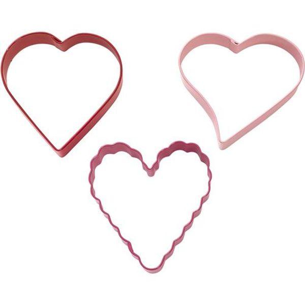 Set x 3 Cortantes en forma de corazón