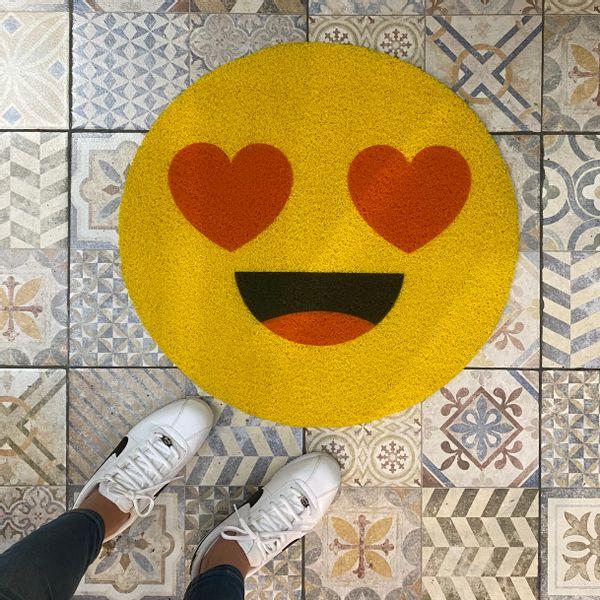 Felpudo Emoji corazones