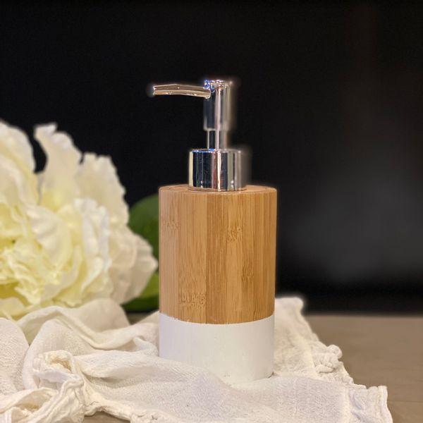 Dispenser jabón líquido de bamboo cónico