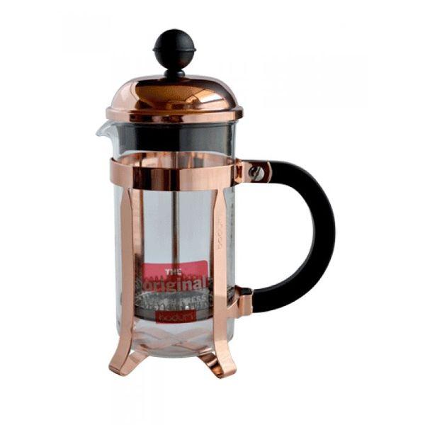Cafetera Chambord 3 pocillos cobre