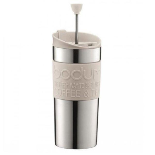 Mug cafetera Bodum acero 0.35 lts blanco