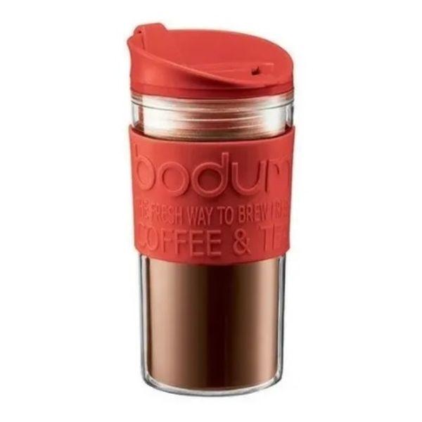 Mug travel Bodum doble pared 0.35 lts rojo