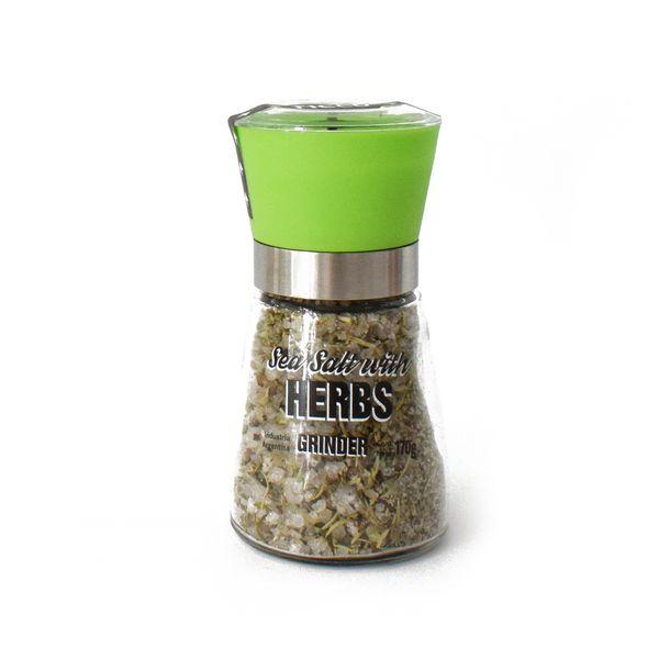 Molinillo de vidrio sal y hierbas 170 grs
