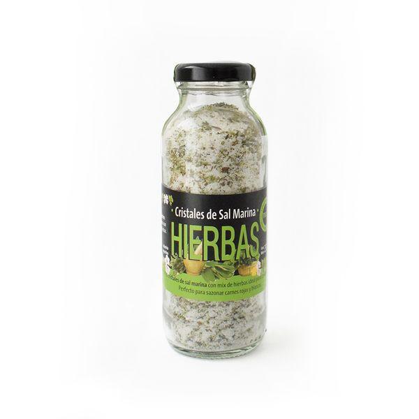 Cristal de sal marina Hierbas 250 grs